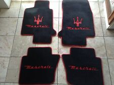 MASERATI GRAN cabrio 2010 on 4 PCS WITH  RED TRIDENT AND LETTERING 2 LOGOS