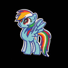 Embroidery Rainbow Pony Horse Sew Iron On Patch Badge Clothes Fabric Applique