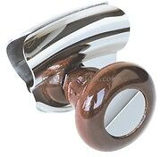 Boat Steering Wheel Control Knob Wood Large Stainless Steel Hand Grip  SWKWD
