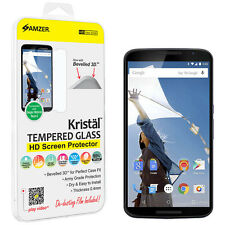 Amzer Tempered Glass HD Screen Protector Bevelled 3D For Motorola Google Nexus 6