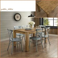 New Rustic Solid Wood Dining Table Desk Block Leg Farm House Style Vintage look