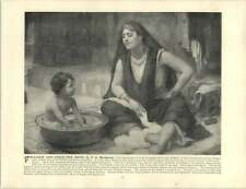 Bridgman, Francis Arthur  ~ Old Artwork ~ Fellahin and Child—The Bath