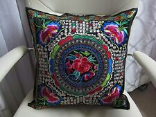 NEW 2 PCS /1Pair Chinese Ethnic Embroider Vintage Cushion Covers Pillowcase