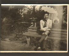 PHOTO ENFANT AVEC VELO BICYCLE 1946