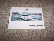 2009 Porsche Cayman & Cayman S Owner User Manual Book Coupe 2.9L 3.4L 6-Cylinder