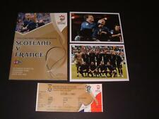 SCOTLAND v FRANCE 1-0 2006 PROGRAMME & TICKET EURO 2008 QUALIFIER & PHOTOGRAPHS