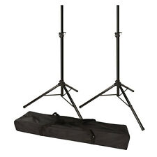 PA Loudspeaker & Mobile DJ Speaker Tripod 35mm Pole Stand Pair with Carry Bag