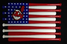 Cleveland Indians Custom Baseball Bat Flag