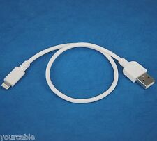1ft 30cm Short Quick Charger Fast Charging ONLY USB Cable WHITE 4 iPhone 5s 5c 5