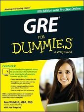 GRE For Dummies: with Online Practice Tests, Kraynak, Joseph, Woldoff, Ron, Acce