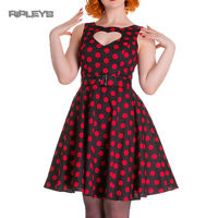 HELL BUNNY Polka Dot 50s Dress SWEET HEART Pin Up Rockabilly All Sizes