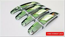 SET OF 4 CHROME DOORS HANDLE COVER FOR FORD EVEREST 2015