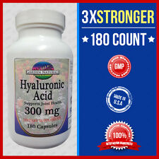 Hyaluronic Acid 200mg Max Strength + 100mg =3x Stronger 180 Caps  Top #1 USA