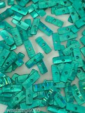 Sequins Rectangle 8mm Turquoise Sea Green Metallic Laser Hologram Read Descripti