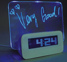 Creative 4 USB LED Light Fluorescent Message Board Alarm Clock Digital Calendar