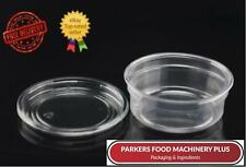 PLASTIC ROUND CONTAINERS TUBS POTS 10OZ WITH LIDS MICROWAVE FOOD SAFE TAKEAWAY