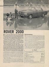 Rover 2000 P6 1963-64 UK Market Road Test Brochure Motor