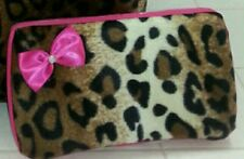 Cheetah Leopard wipe case. Baby. Hot pink. Bow. Travel. Mini storage