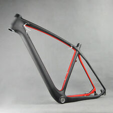 29er Carbon Red Painting MTB Bike Frame Moutain Bicycle FM056 BB30 UD Matte 21""
