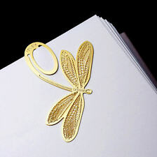 Anniversary Gold-plated Dragonfly Stainless Clip Bookmark - Perfect Gift