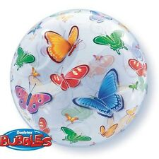 Party Supplies Mothers Day Birthday Butterflies 56 cm Qualatex Bubble Balloon