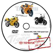 MANUALE OFFICINA TRIUMPH DAYTONA 955i T595 T509 SPEED TRIPLE '98 WORKSHOP MANUAL