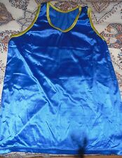 Soccer Calcio Football Allenamento Pettorina Giallo Blue & Yellow Bib