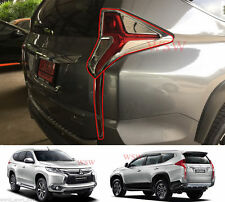 CHROME TAIL LIGHT COVER LAMPS TRIM FOR MITSUBISHI PAJERO SPORT MONTERO SUV 2016+
