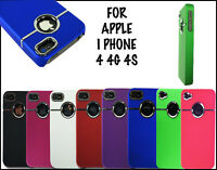 NEW STYLISH CHROME SERIES HARD BACK MOBILE CASE COVER FOR APPLE I PHONE 4 4G 4S