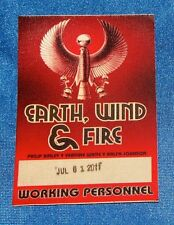 Earth, Wind, & Fire 2011 Tour Local Crew Satin Backstage Pass