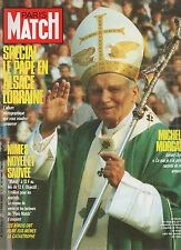 paris match n°2056 le pape jean paul 2 michele morgan mike tyson jarre rampling