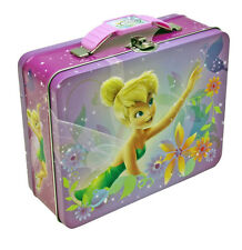 Disney Fairies Tinkerbell Tin Metal Embossed LunchBox Lunch Box Tote Bag NEW