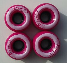 TRACKER Skateboard Wheels 62mm X 38MM PUNK PINK / WHITE 95A (310)