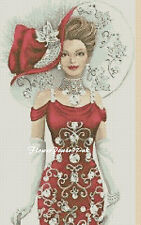 Cross stitch chart  Elegant Lady 156e Flowerpower37-uk.-.free uk P&p......