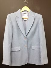 BHS Light Blue Single Breasted Suit Jacket With Shoulder Pads Uk 10 (J291) BNWT