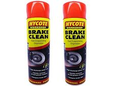 2 x Hycote Brake Part Cleaner Spray Can Aerosol High Quality Leaves Clean 600ml