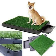 "Dog Potty Training Pee Turf Grass Pad Indoor Pet Patch 25x20x2.5"" Mat Trainer US"