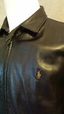 POLO by RALPH LAUREN Soft Leather Jacket Size: Medium in VERY GOOD Condition