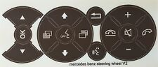 V2 Brown Mercedes Benz Matte Brown Steering Wheel Button Repair Decals Stickers