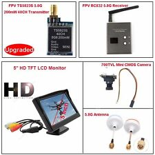 "5.8G TS5823S FPV AV Transmitter+RC832 Receiver+5"" HD LCD+Camera+Antenna Kit"