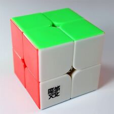 YJ Moyu Lingpo 2x2 Speed Cube Puzzle Cube Stickerless Smooth Magic Cube