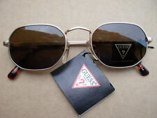 "Guess ""Leary"" Unworn New Vintage / Matte Gold Frame / Amber Lens / GU-853"