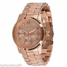 NEW MICHAEL KORS ROSE GOLD STAINLESS STEEL CHRONOGRAPH MIDSIZE WATCH-MK5128