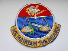 RAF/USAF squadron  cloth patch  we maintain the balance