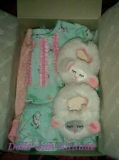 "NEW IN BOX American Girl BITTY BABY LAMBIE PJ'S for 15"" Doll Pajamas TWIN"