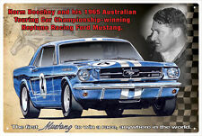 NORM BEECHEY MUSTANG NEPTUNE RACING TIN SIGN 20 x 30cm