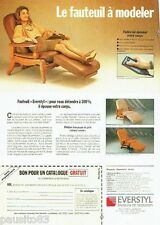 PUBLICITE ADVERTISING 116  1989  Everstyl  fauteuil Elysée Trocadéro  catalogue