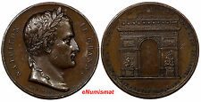 FRANCE Bronze Medal 1836 Arc de Triomphe, Louis Philippe I NAPOLEON LE GRAND