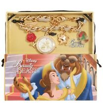 Disney Beauty & The Beast Enchanted Rose Charms Bracelet Watch Gift New In Box!