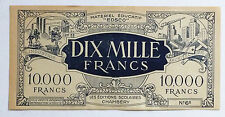 RARE ANCIEN BILLET 10 000 FRANCS / EDSCO / CHAMBERRY / MATERIEL EDUCATIF